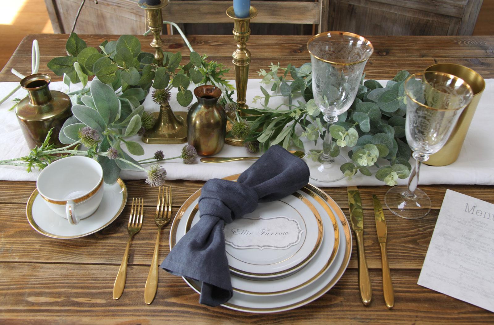 wedding table styling
