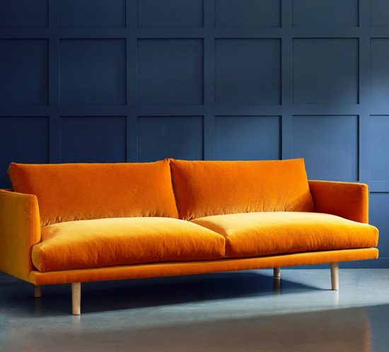 Burnt Orange, Burnt Orange Interiors, Burnt Orange Sofa
