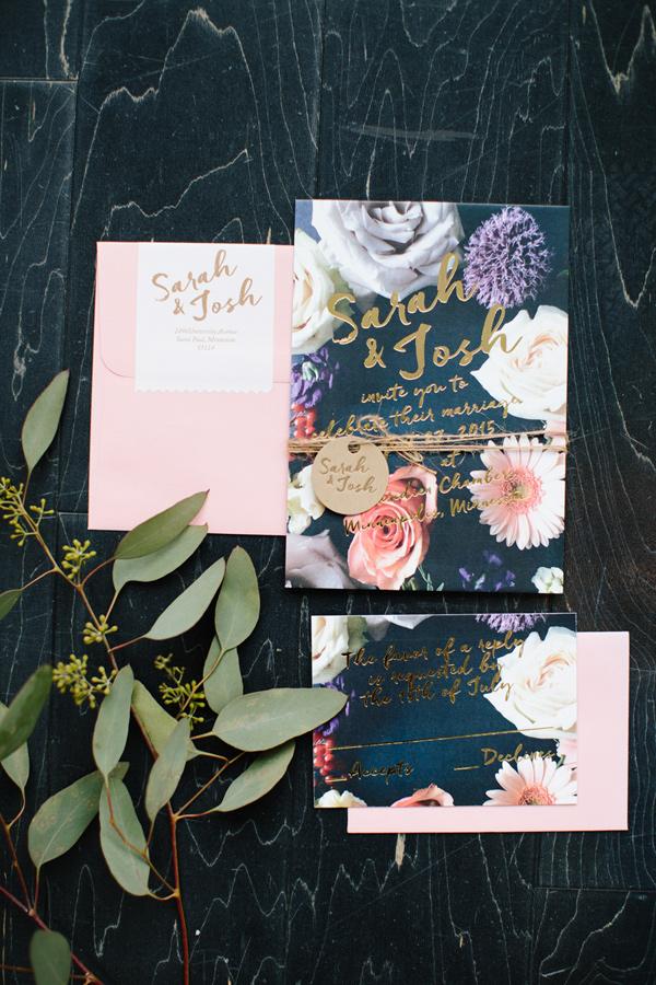 Wedding Invitations Ruffled - photo by Allison Hopperstad Photography http://ruffledblog.com/wedding-ideas-inspired-by-floral-graffiti