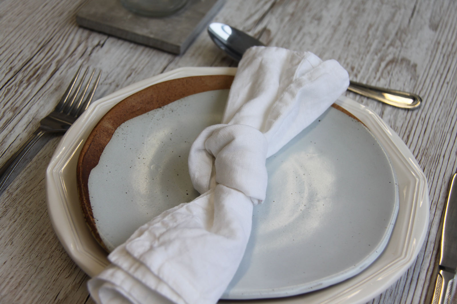 How To Fold A Straight Knotted Napkin Three Little Secrets