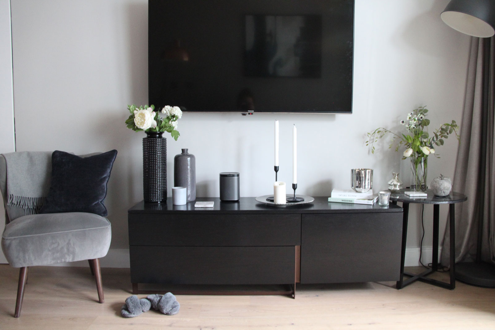 style your sideboard, sideboard styling ideas, sideboard styling, interior styling
