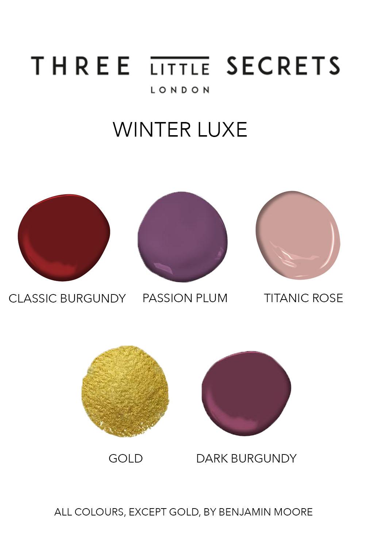 winter colour - winter luxe